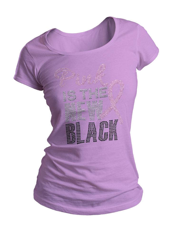 Pink Is The New Black Bling Crew Neck Shirt