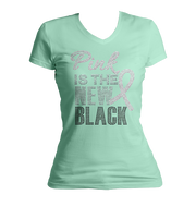 Pink Is The New Black Bling V-Neck Shirt
