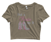 Put A Praise On It Bling Crop Top
