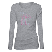 Put a Praise On It Bling Ladies Long Sleeve Shirt