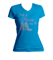 Put a Praise On It Bling V-Neck Shirt