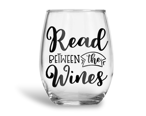 Read Between The Wines Stemless Wine Glass