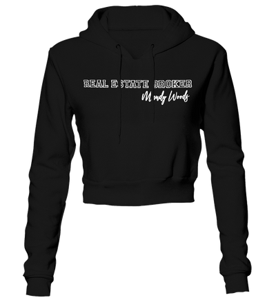 Real Estate Broker Cropped Hoodie