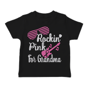 Rockin' Pink For Grandma Toddler T-Shirt