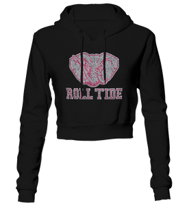 Alabama Roll Tide Bling Cropped Hoodie