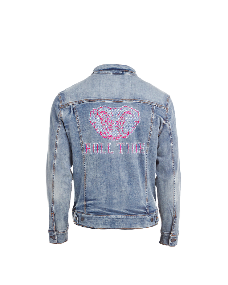 Alabama Roll Tide Bling Denim Jacket