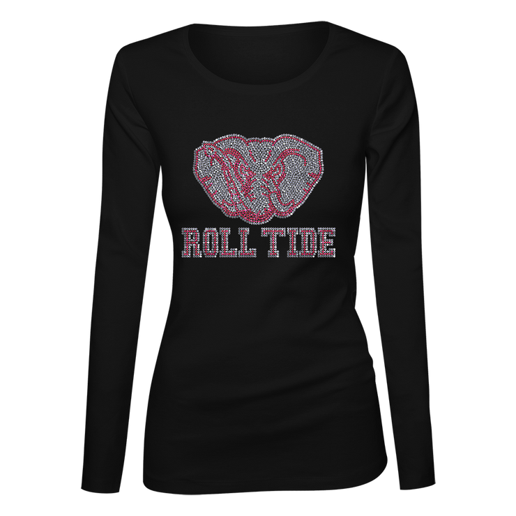 Alabama Roll Tide Bling Ladies Long Sleeve Shirt