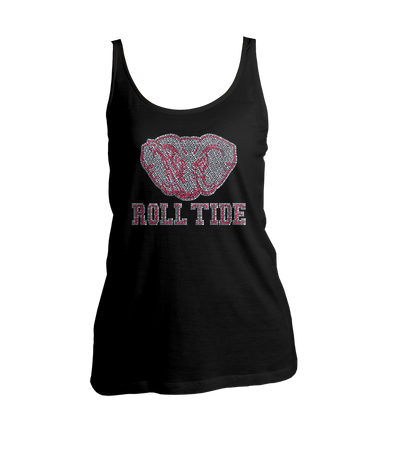 Alabama Roll Tide Bling Ladies Tank Top