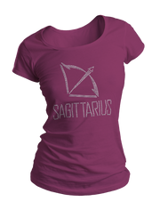 Sagittarius Horoscope Bling Crew Neck Shirt