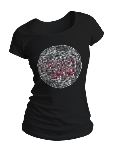 Soccer Mom Bling Crew Neck Shirt