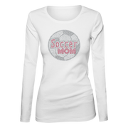 Soccer Mom Bling Ladies Long Sleeve Shirt