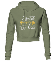 Squats And Top Knots Glitter Cropped Hoodie