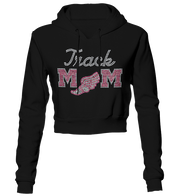 Track Mom Bling Cropped Hoodie