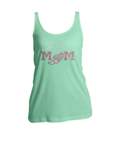 Track Mom Bling Ladies Tank Top