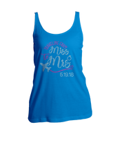 Traveling From Miss to Mrs. w/Wedding Date Bling Ladies Tank Top