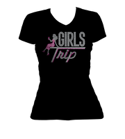 Girls Trip w/Lady Bling V-Neck Shirt