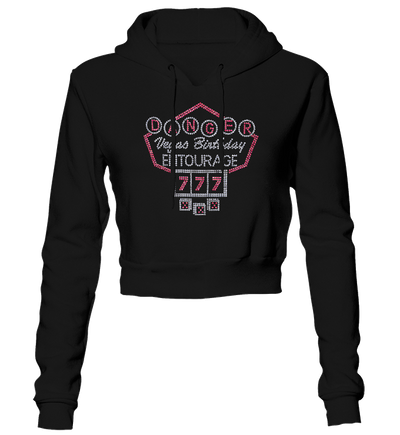 Vegas Birthday Entourage Bling Cropped Hoodie