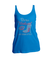 Divas Weekend Las Vegas Style Bling Ladies Tank Top