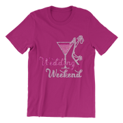 Wedding Weekend Rhinestone Unisex Shirt
