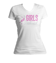 Girls Weekend w/Lady Bling V-Neck Shirt