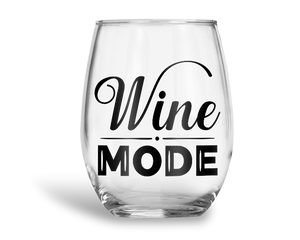 Wine Mode Stemless Wine Glass
