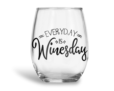 Everyday Is Winesday Stemless Wine Glass