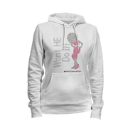 Won't He Do It Rhinestone Ladies Hoodie