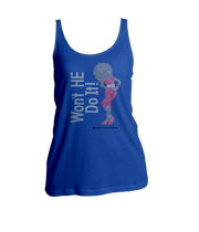 Won't He Do It Rhinestone Ladies Tank Top