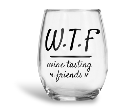 Wine Tasting Friends Stemless Wine Glass