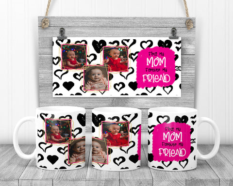Pink and Black Mother's Day Mug
