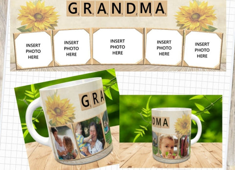 Scrabble My Love Picture Mug