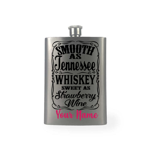 Whiskey and Strawberry Wine Hip Flask