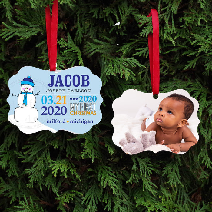 Baby's First Christmas Keepsake Ornament - Blue