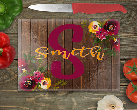 Boho Floral Custom Cutting Board
