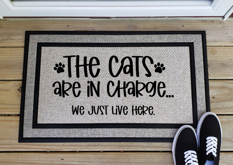 The Cats Run the House Doormat