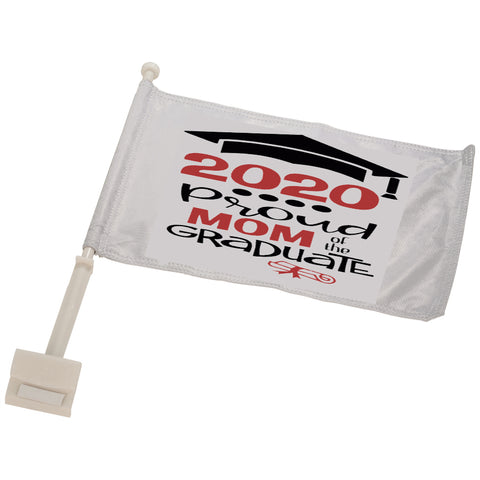 Proud of 2020 Graduate Car Flag with Pole