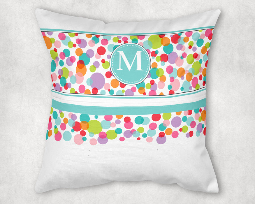 Personalized Pocket Pillow - Colorful Bubbles