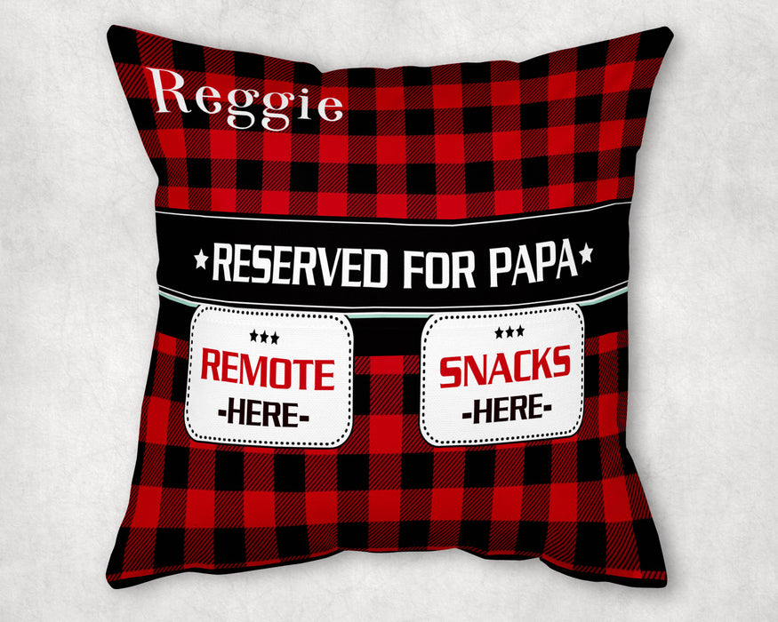 Personalized Pocket Pillow - Reserve For