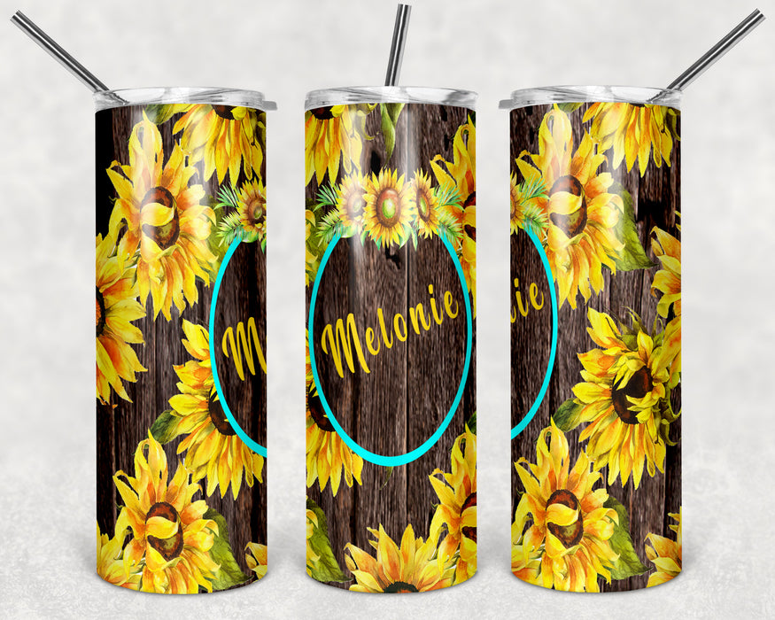 Sunflower 20oz Skinny Tumbler