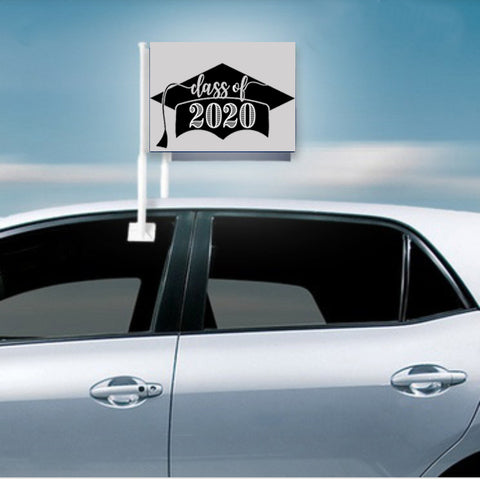 2020 Graduate Car Flag with Pole