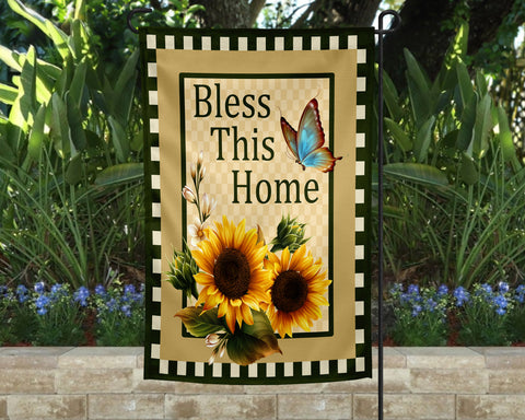 Bless This House Garden Flag