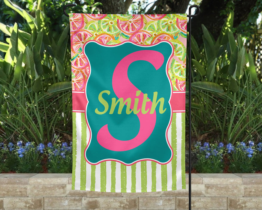 Summer Citrus Garden Flag
