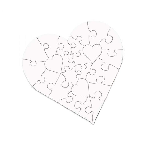 25-Piece Heart Sublimation Jigsaw Puzzle - 6.7""