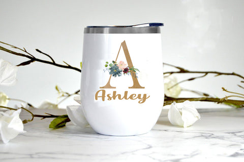 Alphabet_12oz. Stemless Wine Tumbler