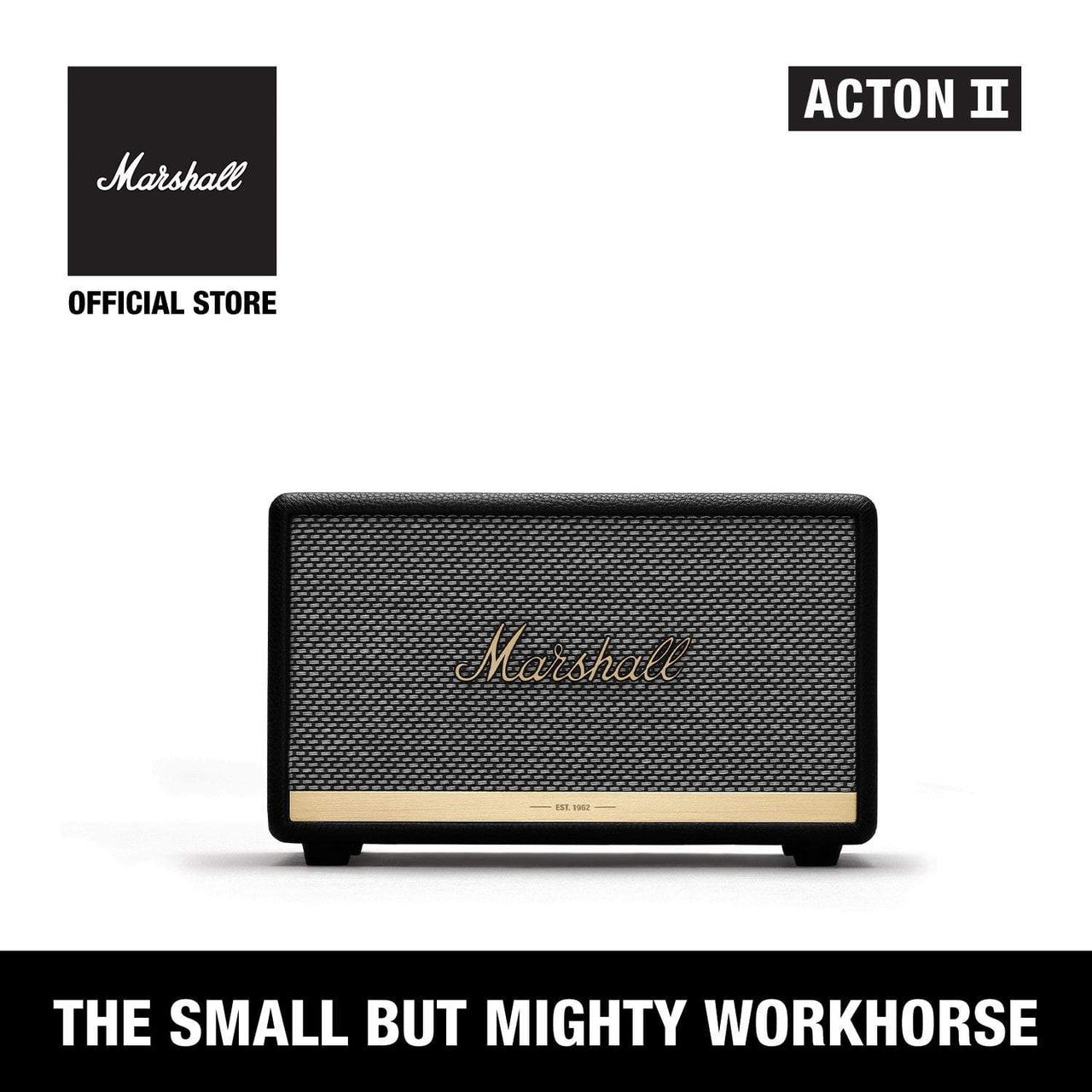 Acton II Bluetooth Black [Exclusive Partner], Speakers, Marshall, ASH Asia