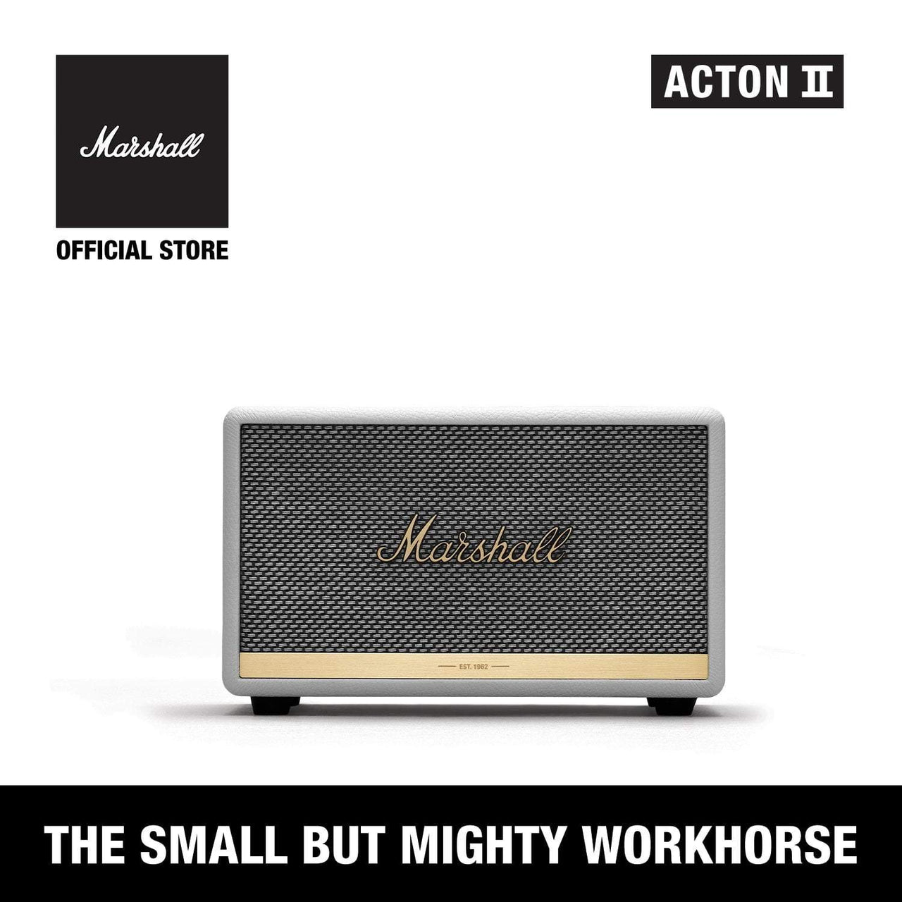 Acton II Bluetooth White [Exclusive Partner], Speakers, Marshall, ASH Asia