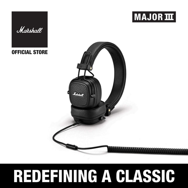 Major III Wired Black [Exclusive Partner], Headphones, Marshall Headphones, ASH Asia