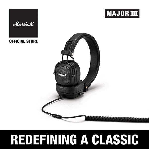 Major III Wired Black [EVENT EXCLUSIVE], Headphones, Marshall Headphones, ASH Asia