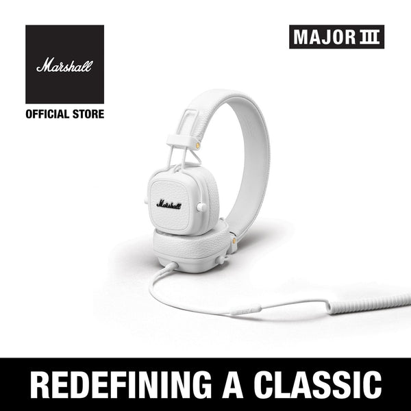 Major III Wired - White [EVENT EXCLUSIVE], Headphones, Marshall Headphones, ASH Asia