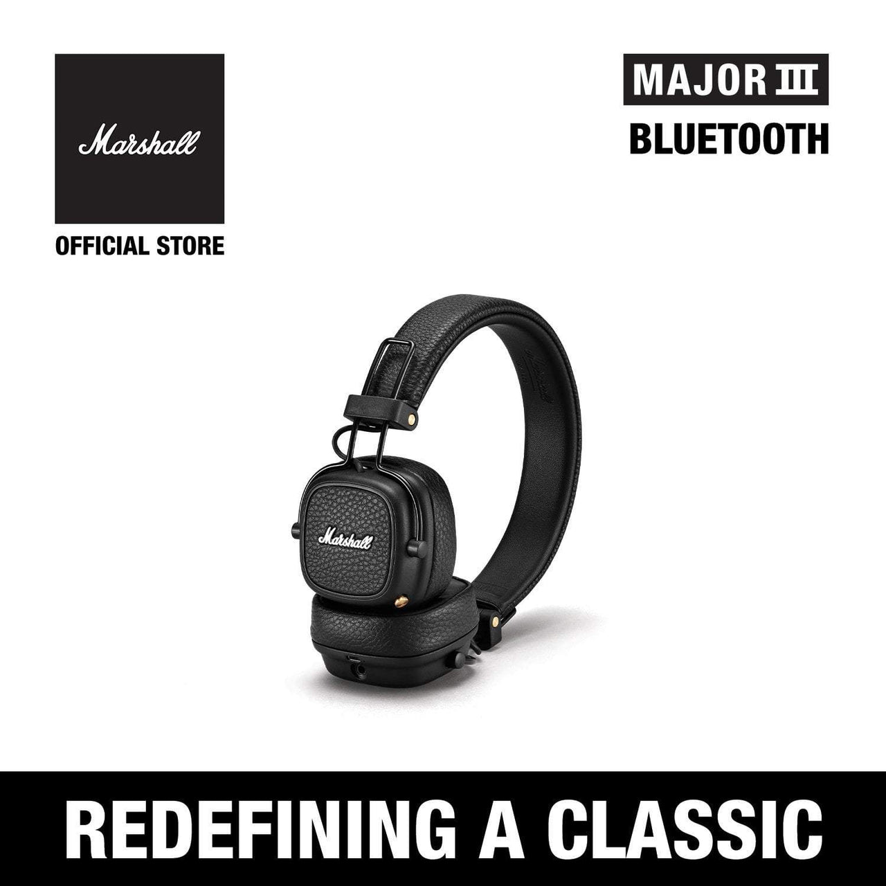Major III Bluetooth Black [Exclusive Partner], Headphones, Marshall Headphones, ASH Asia